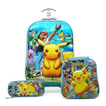 Children Rolling Kid's Case Children's Trolley Travel Bag School Trolley Bags Kid's Backpack Kid's Backpack with Wheels 33color - DISCOUNT ITEM  46% OFF All Category