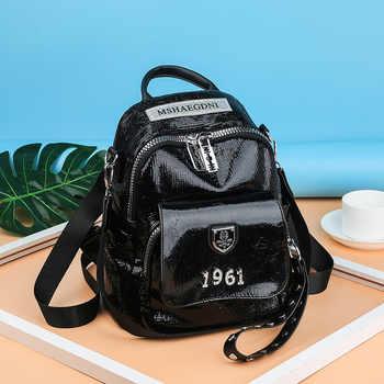 Fashion small backpack 2020 New mini backpack women Bookbag leather backpack Large capacity School bags Travel backpack purse