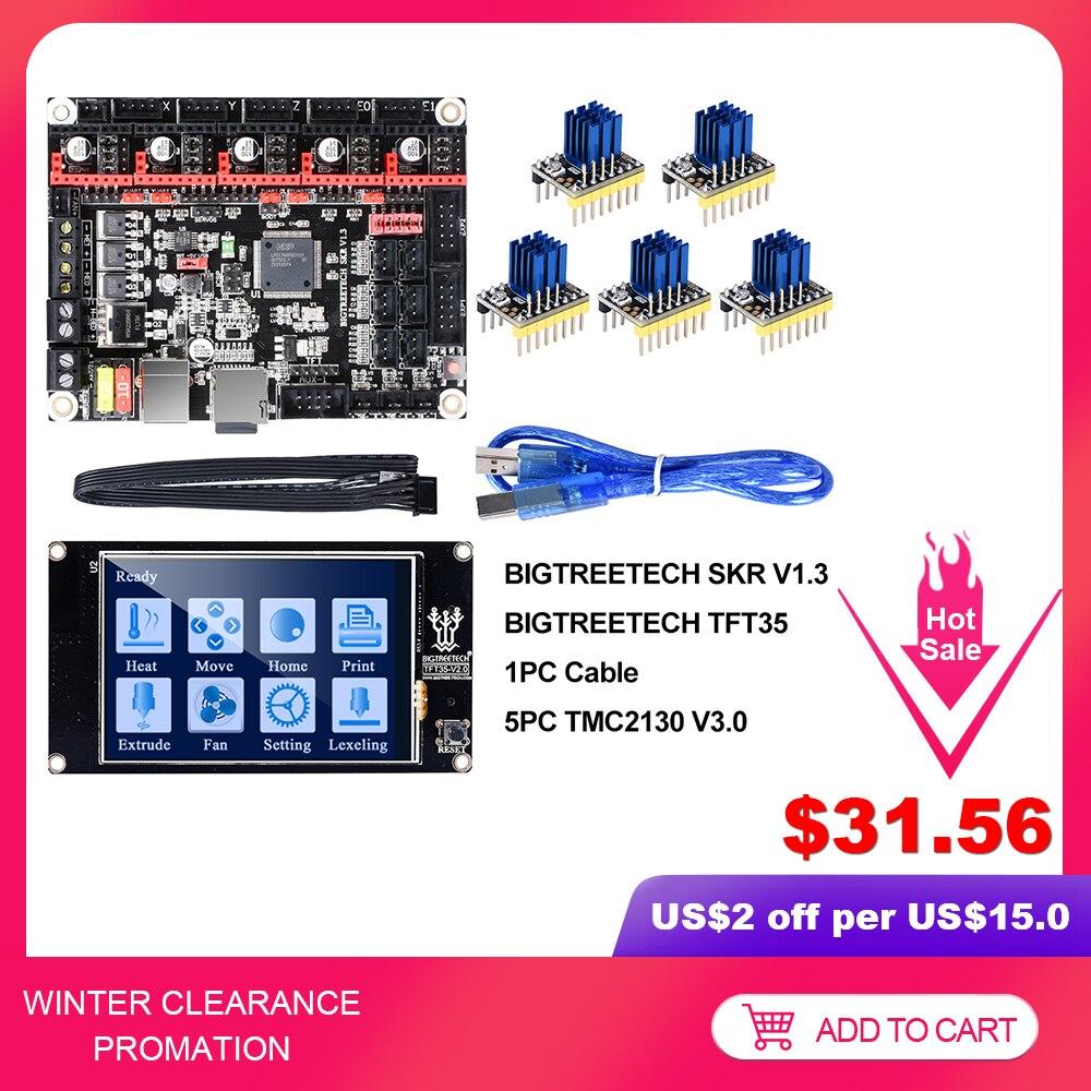 BIGTREETECH SKR V1.3 Smoothieboard 32Bit TFT35 V2.0 BLtouch TMC2130 SPI TMC2208 UART 3D Printer Parts Vs MKS GEN L TMC2209