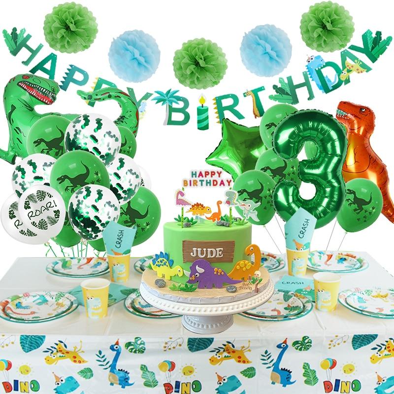 Динозавр, товары вечерние Ринок, маленький динозавр, украшение на день рождения, праздничные воздушные шары, баннер, торт, Топпер, декор для ...