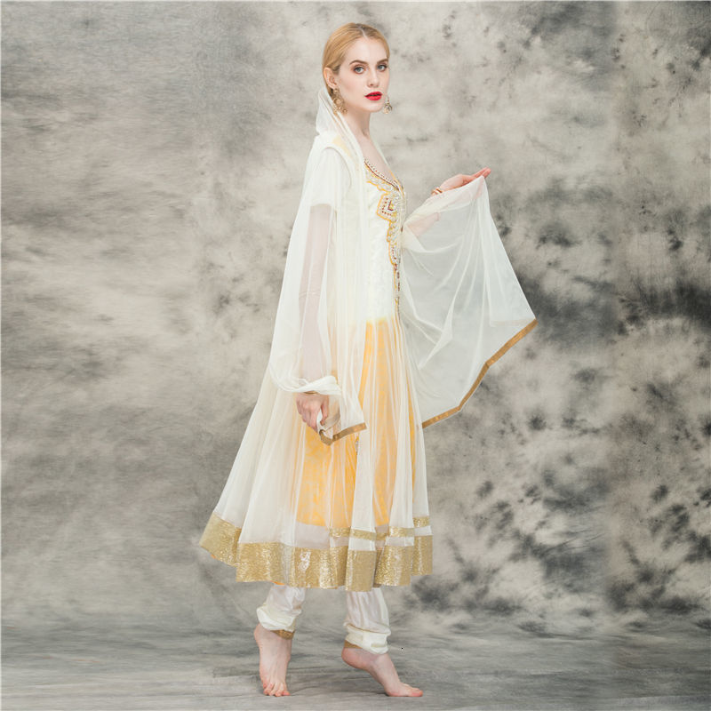 Lehenga Choli Clothing <font><b>Skirt</b></font> Short Sleeve Yellow <font><b>indian</b></font> <font><b>sari</b></font> pakistani dress salwar kameez pakistan free kurta for women image