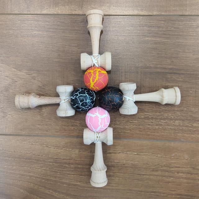 Beech Kendama Toys 12CM Skillful Juggling Ball Game for Children Stress Release Fidget Toys Sword Ball Kids Birthday Gifts