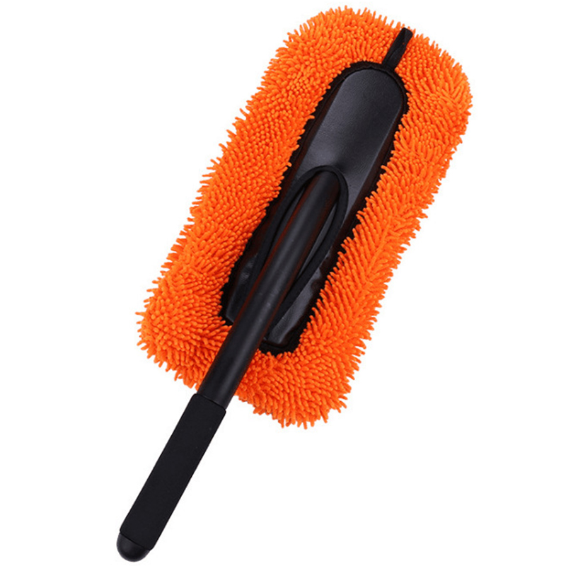 Cleaning Brush Car Window Dust Collector Telescopic Microfiber Stainless Steel Long Handle Dustproof|Cleaning Brushes| |  - title=