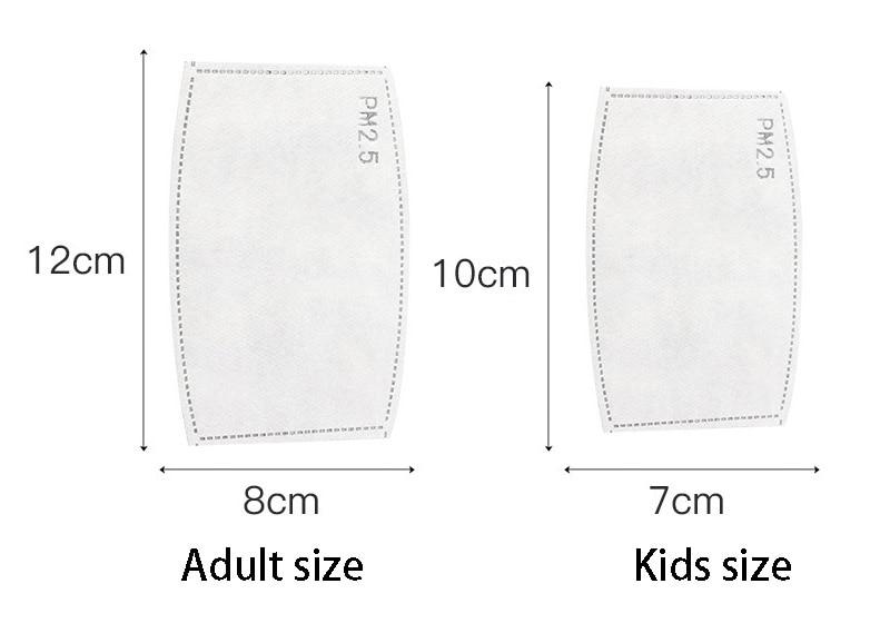 Kids Adult 10pcs/Lot PM2.5 Filter Non-woven masks pad Anti Haze mouth Mask Child mask Filter paper Boy girls Health Care 1