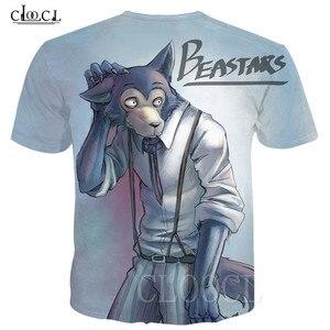 Image 4 - BEASTARS קריקטורה אנימה לבן חולצה חולצות סוודרי 3D זאב בעלי החיים מודפס גברים/נשים טי חולצה Harajuku גדול T חולצה