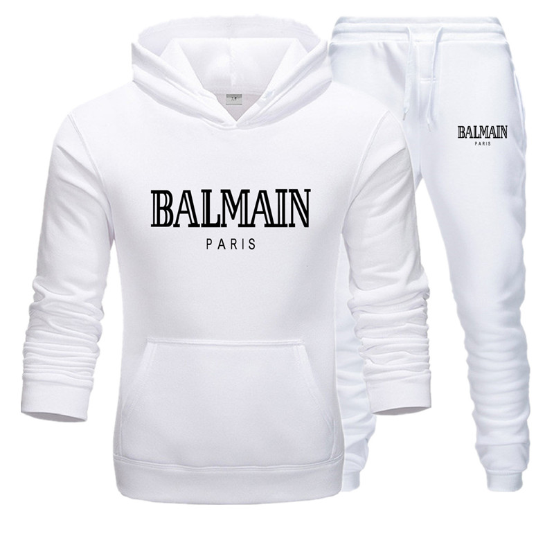 Sportswear Pullover Hoodies Tracksuit Print Balmain Design Fashion Casual Brand New