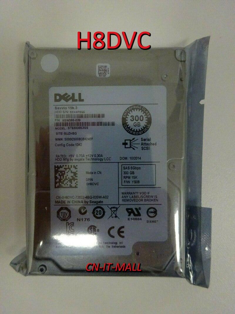 New H8DVC 0H8DVC ST9300653SS 2.5 300G 15K3 SAS 6G HDD