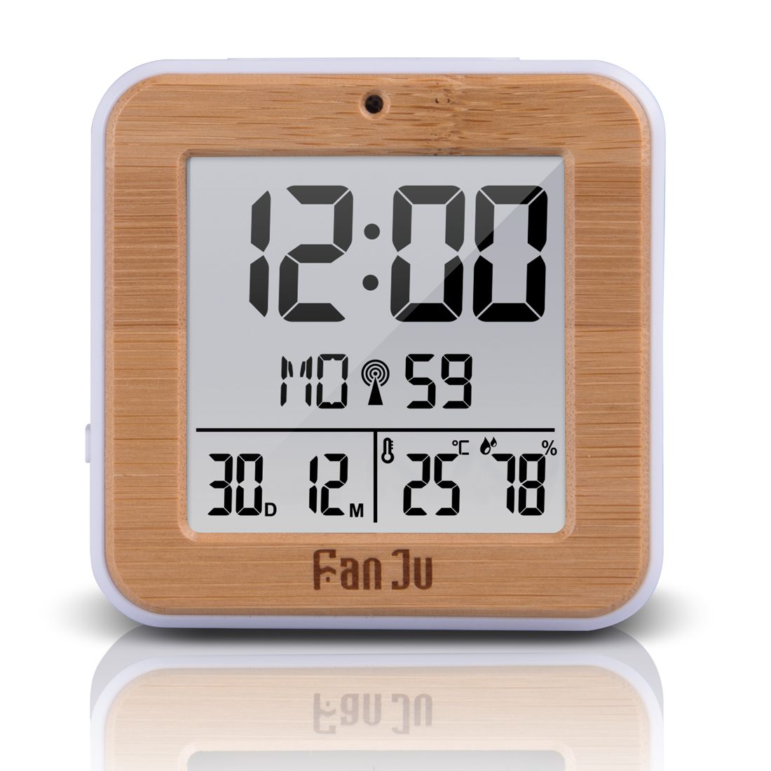 FanJu FJ3533 Digital Alarm Clock LED Table Clock Temperature Humidity Dual Alarm Auto Backlight Snooze Date Thermometer Display