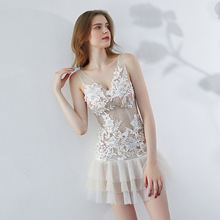 New White Sexy Prom Dresses Short 2019 See Through African Formal Tulle Gown Dress Lace Mini Gala Elegant