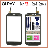 OLPAY 5.0'' Mobile Phone TouchScreen For Fly FS512 Nimbus 10 FS 512 Touch Screen Glass Digitizer Panel Lens Sensor Repair Parts