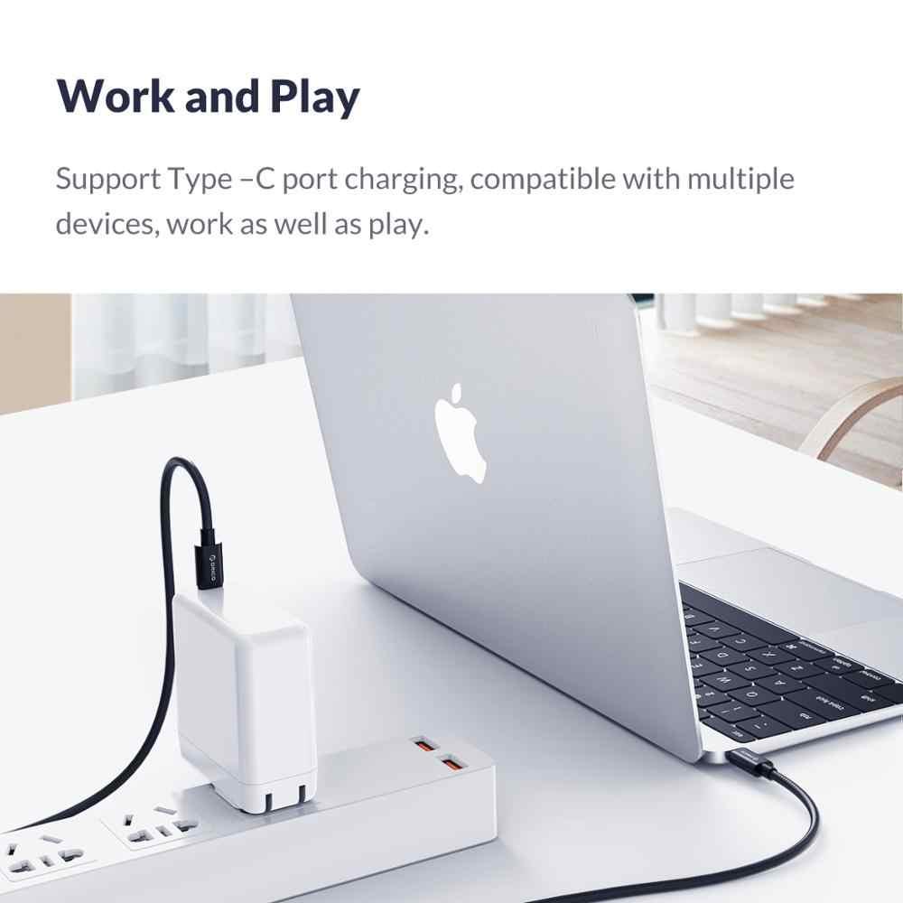 オリコ USB タイプ C タイプ C QC3.0 5A ケーブルメイト 20 Redmi K20 Note7 急速充電 3.0 急速充電器ケーブル Macbook Pro の