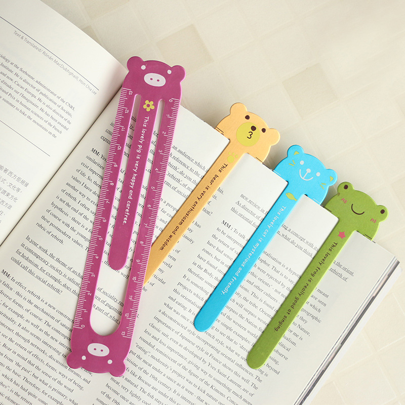 Cartoon Animal Bookmark Aluminum 13cm Ruler Color Lovely School Gift Kids Stationery Cute Rulers For Patchwork