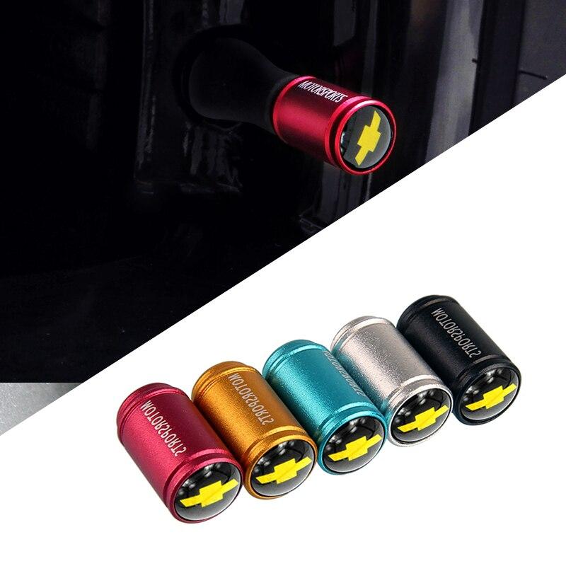 5 Color Matt Tire Valve Caps For Chevrolet Aveo Cruze Malibu Captiva Lacetti Camaro Sail Trax Niva Tyre Stem Wheel Decoration