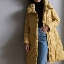 Winter Thick Down Coat Women Long Warm Slim White Duck