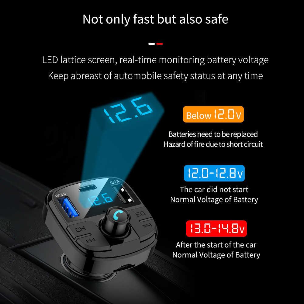 Auto MP3 Player Trasmettitore FM USB Caricatore Rapido di Tipo C di Ricarica QC3.0 Per Mazda 3 6 CX-5 323 5 CX5 2 626 spoiler MX5 CX 5 GH CX