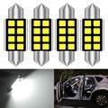 Светодиодный светильник CANBUS C5W, 4 шт., 12 В, гирлянда, 31 мм, 36 мм, 39 мм, 41 мм, C10W, светильник для салона автомобиля, лампа для чтения номерного знака...