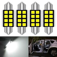 Светодиодная лампа Canbus 36 мм C5W для номерного знака Mercedes Benz W169 W203 W208 W209 W210 W211 W212 6000K, белый, 4 шт.