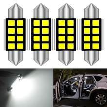 4 قطعة في Canbus 36 مللي متر C5W LED لمبة مصباح عدد ترخيص لوحة ضوء لمرسيدس بنز W169 W203 W208 W209 W210 W211 W212 6000K الأبيض
