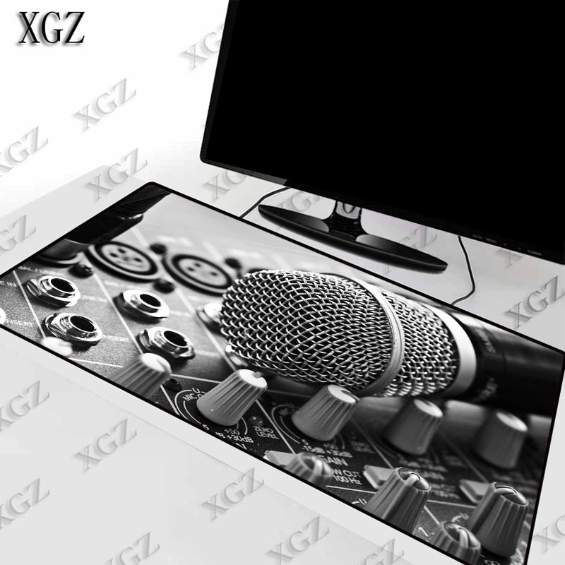 XGZ Cool DJ Music Control Microphone Gaming Mousepad Desk Mat Large Lock Edge Mouse Pad Keyboard   Laptop PC Computer Muismat