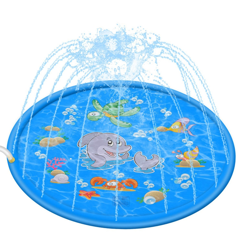 New Outdoor Lawn Beach Sea Animal Inflatable Gifts Water Toys For Kids Sprinkler Play Pad Water Games Cushion Toys Fun For Baby