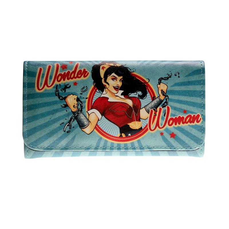 Wonder Woman Wallets Female Purse Lady Purses Women Card Holder DFT1387
