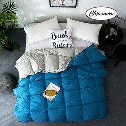Chpermore отельное одеяло, 100% белый гусиный/утиный пух, стеганое одеяло, Утепленное зимнее одеяло, 100% хлопок, покрывало, король, королева, двойной...