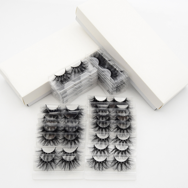 Visofree 30/40/100 Pairs 3D Mink Lashes With Tray No Box Handmade Full Strip Lashes Mink False Eyelashes Makeup eyelashes cilios 5