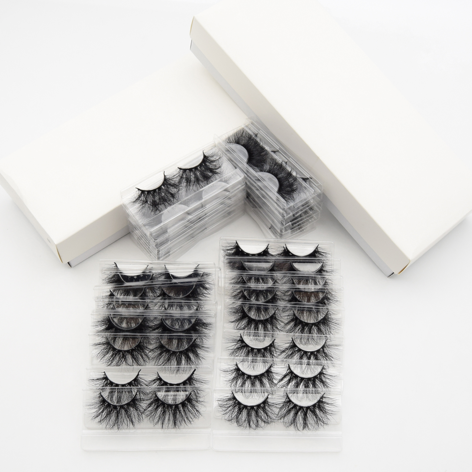 Visofree 30/40 Pairs/lot 3D Mink Lashes With Tray No Box Handmade Full Strip Lashes Mink False Eyelashes Makeup eyelashes cilios