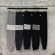 Fashion TB 2021 THOM Brand Sweatpants Men Wool Elastic Casual Knitted Trousers Tracksuit Bottoms Mens Jogger Track Winter Pants