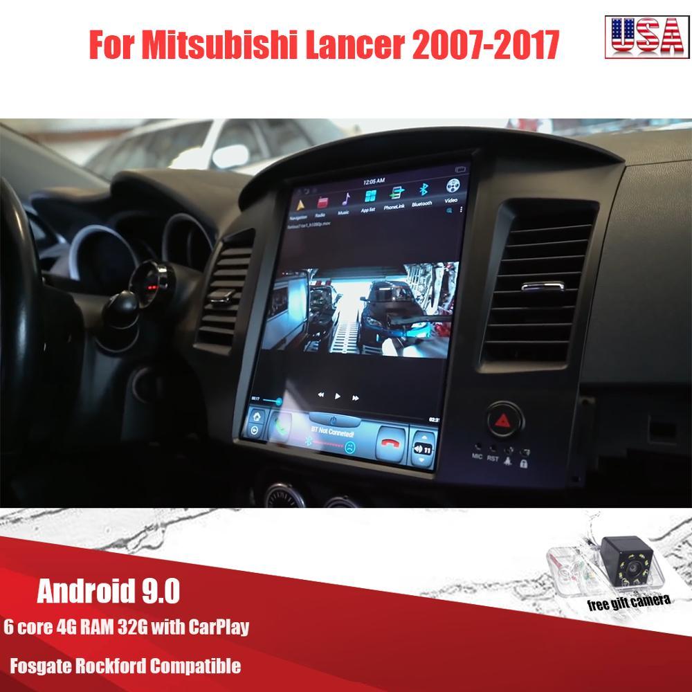 Kukuz Android 9 Tesla car multimedia for Mitsubishi Lancer 2007-2017 Car Dvd Gps Player built-in Radio Video Navigation Wifi