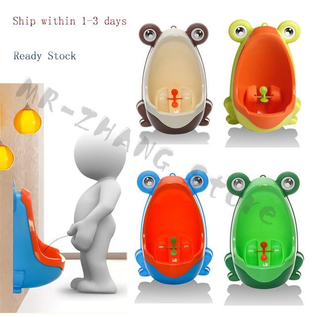 bebe Frog Children Potty Toilet Training Kids Urinal for Boys Pee Trainer Urinal Bathroom #H055#