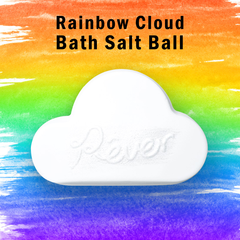 1pcs Rainbow Cloud Essential Oil Bathing Ball Handmade Bath Salt Ball Soap Moisturizing Skin Natural Bubble Bath Bombs Ball