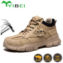 All Seasons Can Wear 2020 Men's Anti-Smash And Anti-Stab Safety Shoes, Breathable Work Shoes And Safety Boots