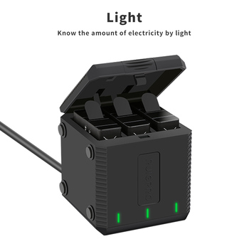3-Way slot Battery Charger LED Charging Box Carry Case Battery Housing for GoPro Hero 8 7 6 5 Black Accessories Battery Case 1