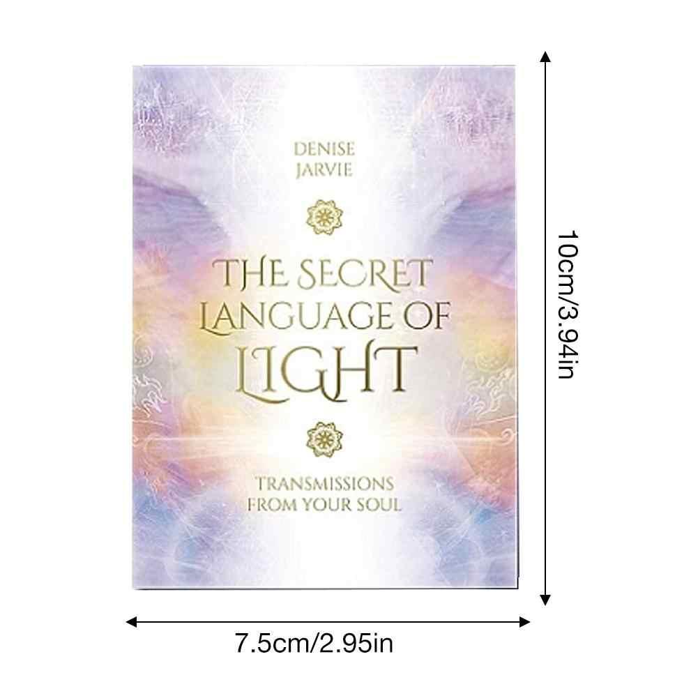 45 sztuk TheSecret język światła Oracle karty do tarota kartonowe karty do gry wskazówki wróżbiarstwo los tajemnicza rodzina tarota kartka imprezowa