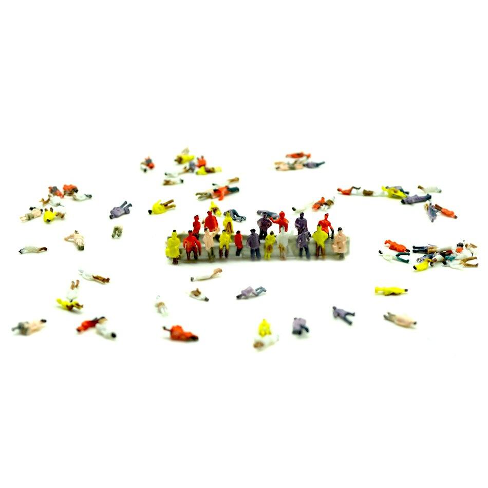 Modèle jouet train 1000 pièces mixte peint modèle Trains personnes passagers chiffres échelle 1:150 faire le modèle train disposition
