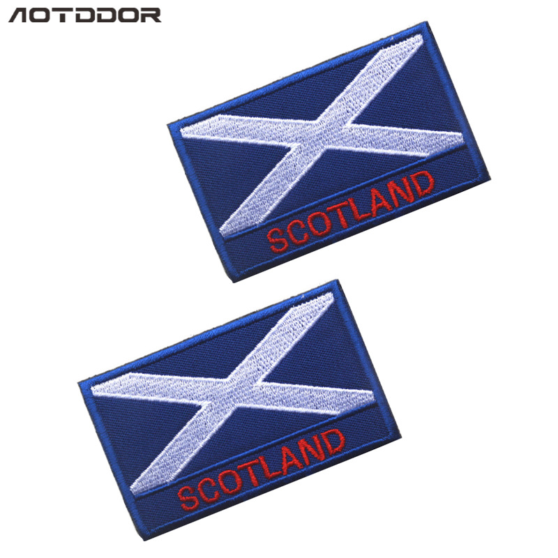 Europe The United Kingdom Scottish Flag Morale Patch Pack Posted Cloth Label Embroidered Armband Velcro
