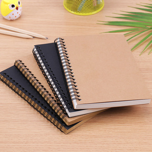 Retro Spiral Coil Sketchbook Kraft Paper Notebook Sketch Painting Diary Journal Student Note Pad Book Memo Sketch Pad(China)