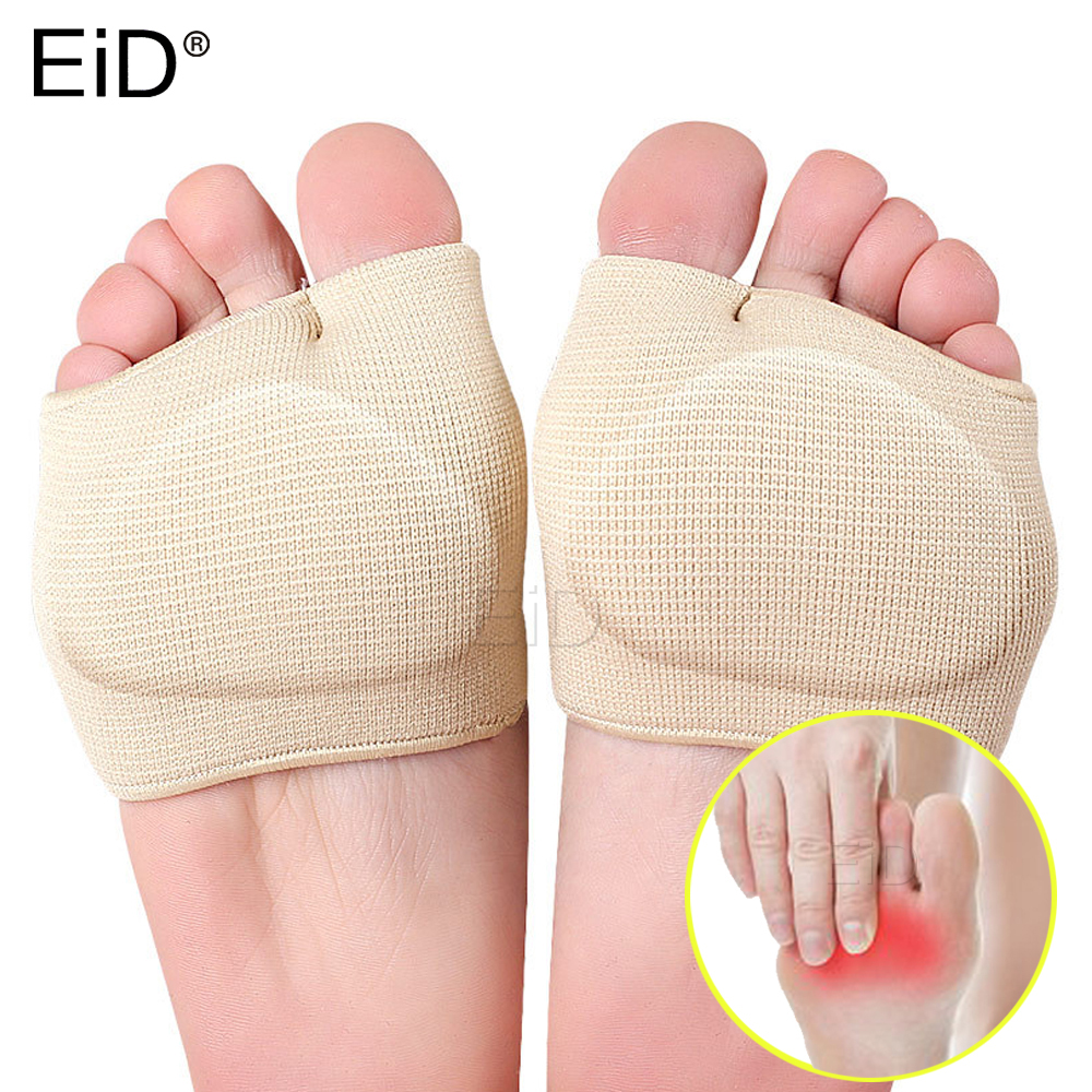 EiD Silicone Metatarsal Sleeve Pads Half Toe Bunion Sole Forefoot Gel Pads Cushion Half Sock Supports Prevent Calluses Blisters