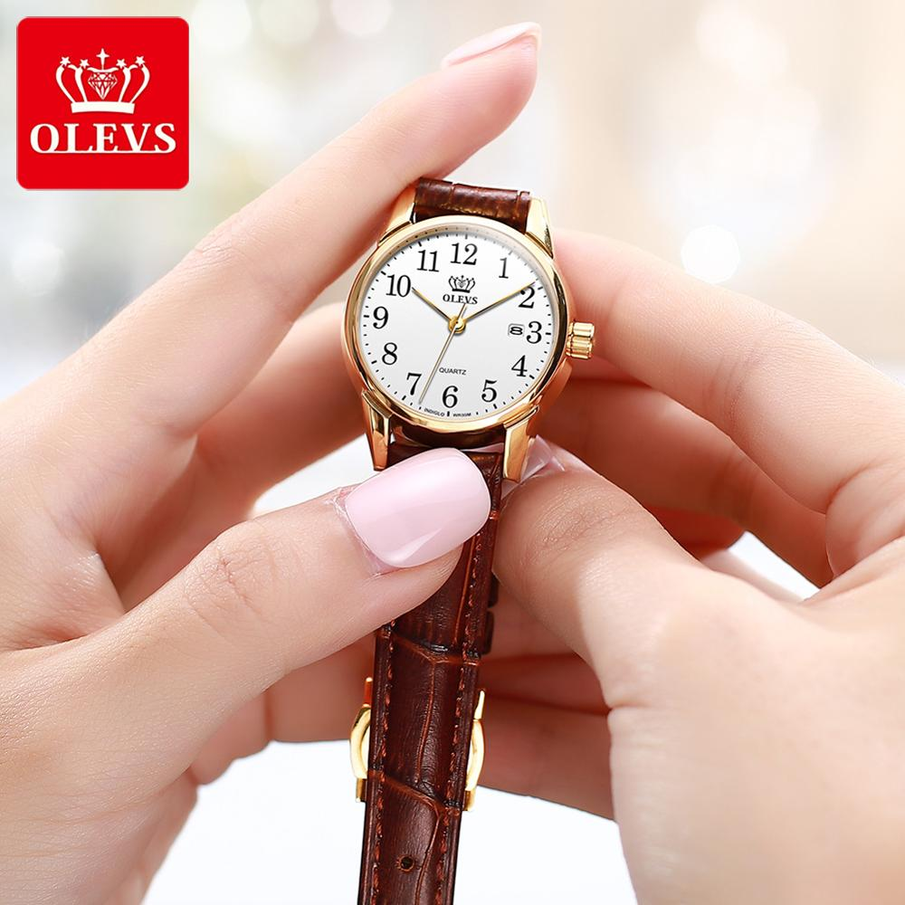 OLEVS Newest Womens Watches Waterproof Wrist Watches For Women Casual Ladies Watch With Arabic Number Calendar Date Reloj Mujer