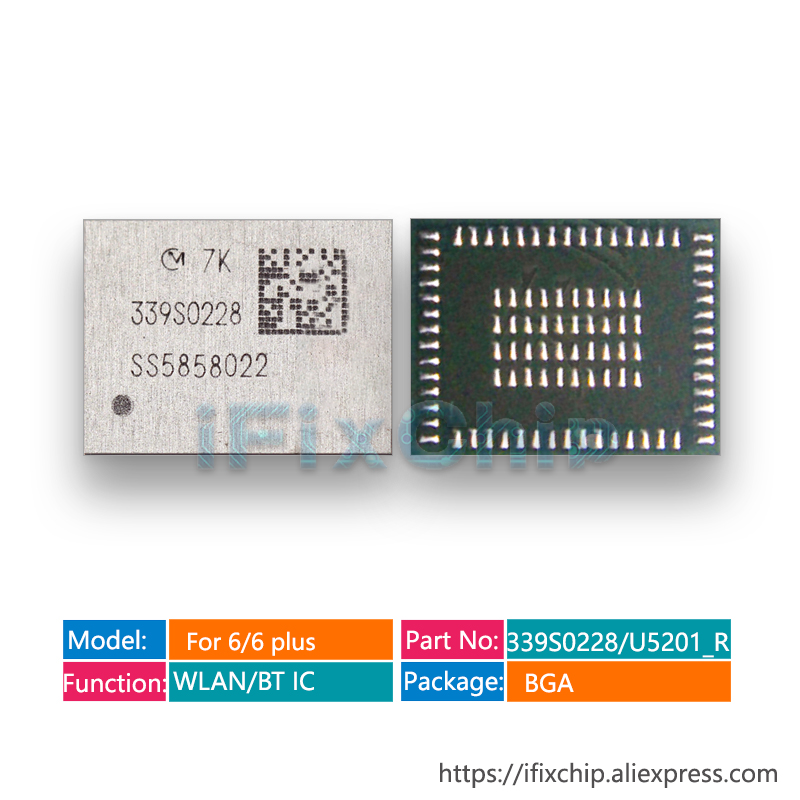 10pcs/lot U5201_RF For iPhone 6/6 Plus 339S0228 WLAN/BT Wi Fi high temperature wifi Module IC chip-in Integrated Circuits from Electronic Components & Supplies    1