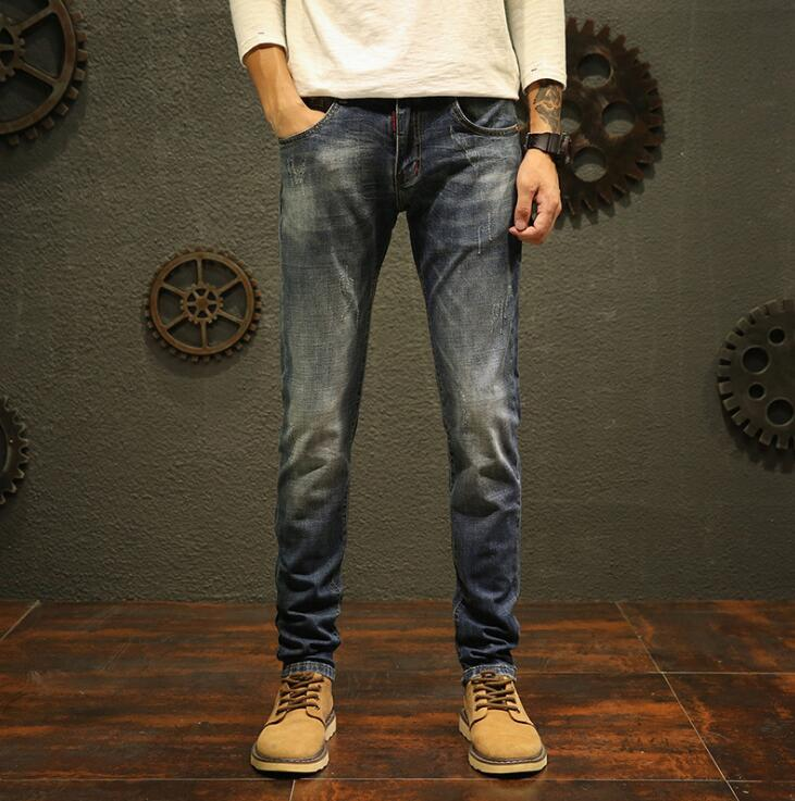 Top Quality 2019 On Hot Sales New Design Men Jeans Stretch Long Pants Free Shipping