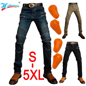 Image 1 - Motorcycle jeans 2019 Pantalones Motocicleta Hombre Featherbed Jeans The Standard Version Car Ride Trousers pant motorcycles men