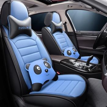 Full Coverage Eco-leather auto seats covers PU Leather Car Seat Covers for toyotaprado 120 150 premio prius 20 30 rav4 venza