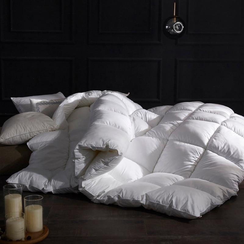 Pure Color Winter Quilt Duvet Very Warm Winter Blanket Comforter Filler King Queen Twin Size 1.5~3kg Weigte Down Quilt Duvet