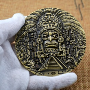 Mayan AZTEC CALENDAR souvenirs predict commemorative coins art collection gifts commemorative coins collections interesting