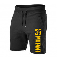Casual Shorts Bermuda Fitness Bodybuilding Sport-Clothing Bottoms Print Male Running