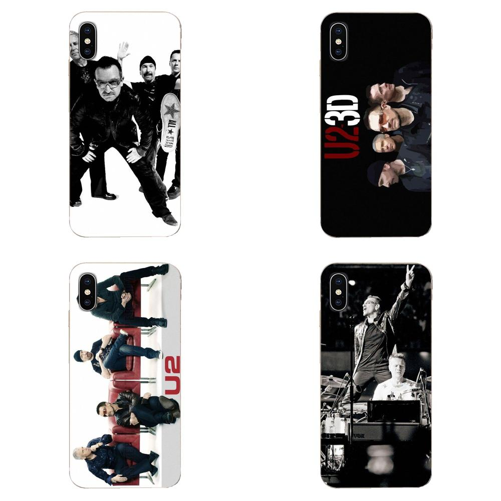 U2 Rock Band For Apple iPhone 4 4S 5 5C 5S SE 6 6S 7 8 11 Plus Pro X XS Max XR Silicone Case Cover image
