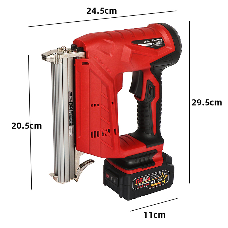Tools : Portable rechargeable lithium battery nail gun Woodworking power tools Straight nail U nail optional Stapler F30 422 1022 3AH