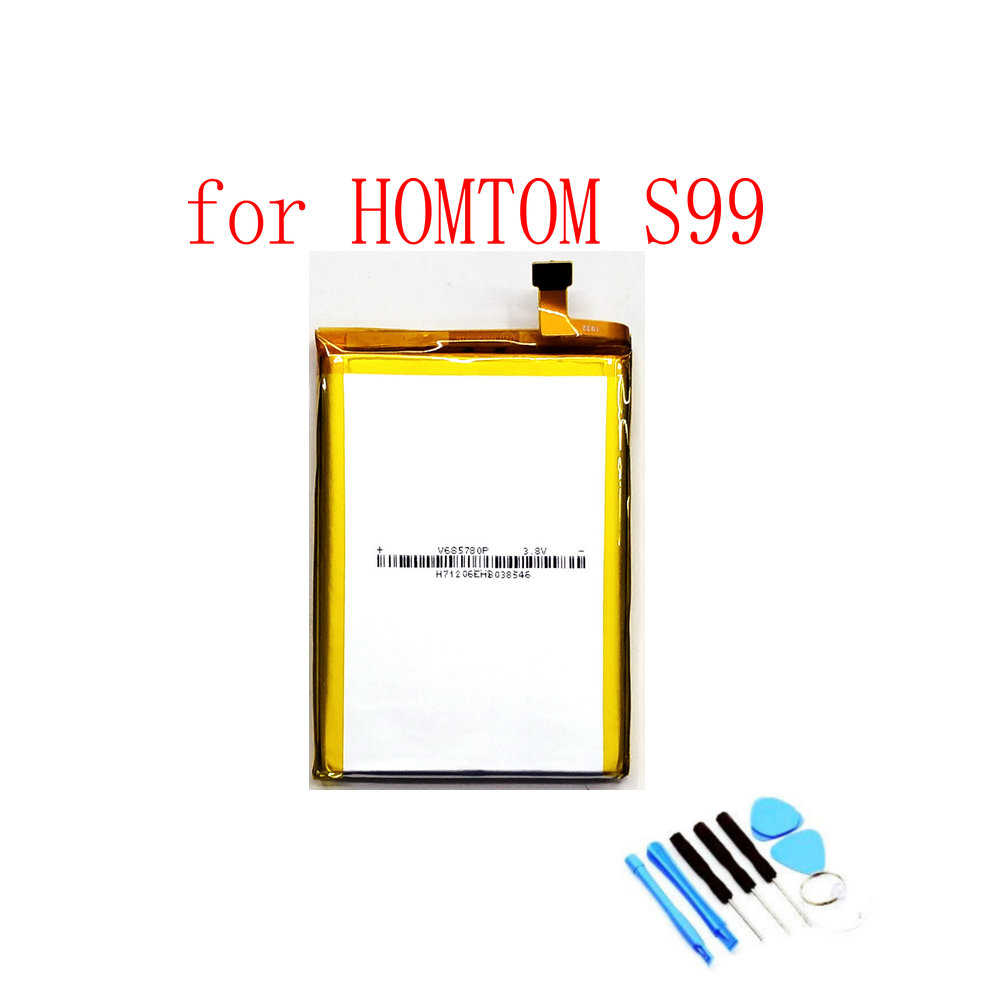 High Quality S99 6200 mAh Battery for HOMTOM S99 Mobile phone(China)